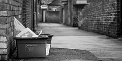 Recycle (robbophotography) Tags: york bins recycling street walls alleys houses