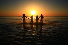 Friends - Tel-Aviv beach (Lior. L) Tags: friendstelavivbeach friends telaviv beach silhouettes sea seascapes sun sunset mot action actionphotography bathing reflection telavivnorthbeach telavivbeach activity travel bathinginthesea