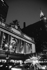 Grand Central Terminal lit for the holidays. (rjdibella) Tags: newyorkcity newyork 2015 winter night usa nyc unitedstates us grandcentralterminal grandcentral chryslerbuilding picks