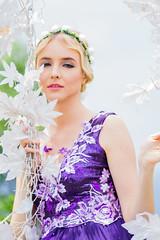 Darya Nov (Firly Firman) Tags: mirorrless manuallens russian 135mm carlzeiss carlzeiss135mm carlzeiss135mmf35 a6000 sony sonya6000 modelling model people gown woman purple hat outdoor flower