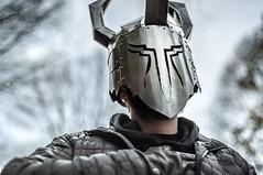Razor Gaze (Patrick.Younger.Photography) Tags: portrait creative helmet indestructible epc warrior razor gaze metallic light art designer movie film comic figure ra real ability