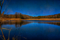 Over-and-Under-Blue (desouto) Tags: nature hdr landscape trees ponds reserviors lakes sky color autumn leaves wildfilowers road forest rivers wildflowers clouds snow