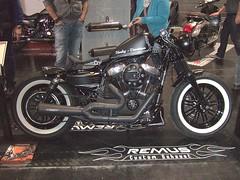 HARLEY DAVIDSON (John Steam) Tags: motorcycle motorbike motorrad custom cultwerk 48 pinstripe harley davidson sportster bikersworld salzburg austria 2016 remus exhaust fortyeight