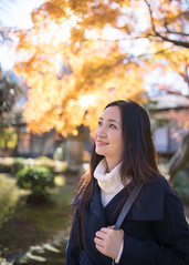 Japanese woman walking in autumn scenery (Apricot Cafe) Tags: img6719 30s asianethnicity japan japaneseethnicity sigma35mmf14dghsmart tokyo autumn autumnleaves beautyinnature change charming cheerful enjoying foliage freshness happiness hope japanesefallfoliage japanesemaple leaves mapleleaf nature oneperson onlywomen orange outdoors people red refreshing selectivefocus smiling sunlight tranquility traveldestinations tree walking woman youngadult bunkyku tkyto jp