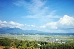 Saika No Sato (Gai) Tags:    nakafurano hokkaido japan   summer      blue sky  cloud  plant  mountain  green  field  country  sunny