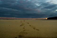 footprints upon a beach (nafenic) Tags: nikond5300 1855mm afp kitlens beach seaside dawn cornwall southwestuk holidays sunrise