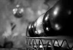 Bokeh (FitzJohnson) Tags: bokeh depthoffield dof ourdailychallenge odc blackandwhite bw blackwhite monochrome monochromatic canon canonrebel t3i 600d christmas winter tree decoration ornament ornaments christmasornament merrychristmas xmas
