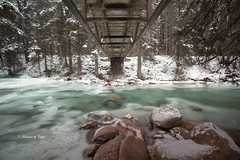 The bridge (Canon Queen Rocks (1,130,000 + views)) Tags: water frozen ice river flow rocks bridge winter december trees snow johnstoncanyon banffnationalpark alberta canada outdoors