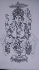 Ganesh1 (emilio_alfaro) Tags: ganesh draw drawin lion dibujo god indian blackandwhite