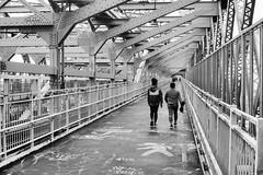 Two Are Better Than One (Lojones13) Tags: newyork bridge walk walking walkway people two