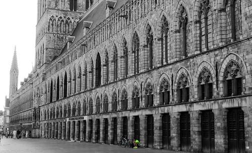 Halles aux draps d'Ieper (Ypres), Flandre-Occidentale, Belgium