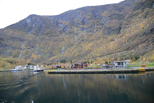Flåm port where boarded the ferry that took us through the Nærøyfjord