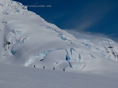 Crevasses and love for the white colors in Antarctica