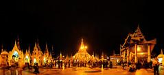 A Wave From Dave (John_de_Souza) Tags: travel panorama zeiss temple gold pagoda nightlights shwedagon yangon burma buddhist sony 360 tourist devotion sacred myanmar lush crowds shwedagonpagoda intricate 2014 nightpanorama a7r sal2470 spotlightonasia johndesouza sonya7r myanmarimages awavefromdave