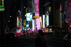 Evening in Manhattan (Lojones13) Tags: newyorkcity night canon lights manhattan timessquare eoskissx3