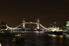 Tower Bridge (SeventyF) Tags: longexposure london thames night towerbridge river hmsbelfast canonefs18135mmf3556is