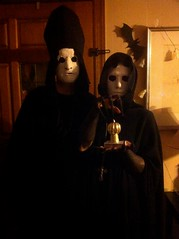 Priests of the 7 Thorns ~ Halloween 2014 (dminortheory) Tags: costumes halloween creepy spooky masks horror fingernails ghosts cloak witches occult claws priests nasgul plastermasks