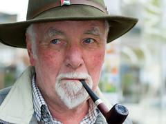 Terence - Stranger 4/100 (mistersteeb) Tags: man hat pipe strangers 100 gentleman mistersteeb stevecannings
