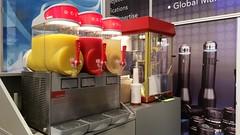 """food Standcatering auf der VisionSTR Messe Stuttgart  110 Liter Tropische Früchte, Erdbeer und Magarita, wahlweise mit Alkohol.  Was bieten wir dem Kunden: Granitor / Slusheis Maschine inkl Pult zur Herstellung von Magarita, Daiquiri und Limes und Slushei • <a style=""""font-size:0.8em;"""" href=""""http://www.flickr.com/photos/69233503@N08/15084866683/"""" target=""""_blank"""">View on Flickr</a>"""