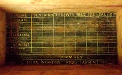 The bottom of a box I bought from a boot sale. (~Misty~) Tags: york handmade yorkshire merryxmas woodenbox murtonpark oldworksign seepedinhistory ifonlyitcouldtalk