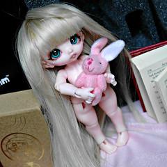 Dollpamm Poyo (Sakura-Streifchen) Tags: doll tiny bjd abjd poyo balljointed balljointeddoll sweetypie pinkiskin dollpamm amahtalafaceups asiaballjointed