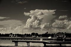 Growing cloud (Carlos A. Aviles) Tags: sky cloud water pier muelle agua puertorico salinas cielo nube