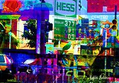 Urban Confusion (brillianthues) Tags: street city urban philadelphia collage photoshop photography colorful badlands photmanuplation