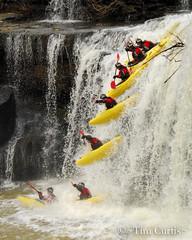 Jase Bouldin progression (_Tim Curtis_) Tags: river waterfall kayak tennessee greatfalls descent kayaking sequence rockisland 2014 jasebouldin