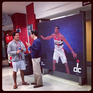 Previously at the Verizon Center (last week)... Chris Singleton, now a Pacer, still has a ghost-like #Wizards presence. These bros discuss.