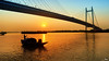 2nd Hoogly Bridge from Princep Ghat. (Rajib Kumar Bhattacharya) Tags: sunset water boat kolkata 2ndhooglybridge princepghat jamesprincep hooglyriver prinsepghat prinsepmemorial jamesprinsep princepmemorial