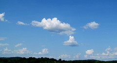 SUMMER CLOUDS..... (Daisy.Sue) Tags: blue sky white clouds fluffy summer2014