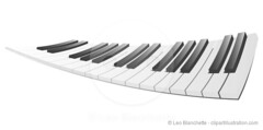 Stretched Piano Keys Illustration (clipartillustration) Tags: music white abstract art illustration keyboard key pattern graphic image piano ivory illustrations wave clean musical simplicity instrument backgrounds stretched vector ebony elegance classicalstyle