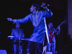 Kamal Hameer at Madame CJ Walker Theater (Ted Somerville) Tags: show blue music india musicians night cool live indianapolis indian livemusic performance indiana synth singer punjab touring cultural beats select talented 317 taltent
