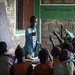 Elfu Debele teaches outside the classroom at Beseka ABE Center in in Fantale Woreda of Oromia State