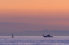 Fishing boat of the dusk (kurumaebi) Tags: sunset sea nature landscape nikon yamaguchi mysky   d7000