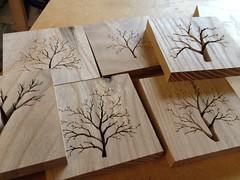 Scroll saw tree coasters