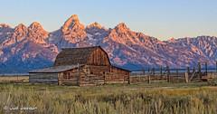 Mormon Barn on Antelope Flats (JudiJac) Tags: antelopeflats grandtetonswyoming mormonbarn