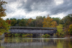 Perrine's Bridge (nywheels) Tags: bridge autumn ny newyork history nikon autumncolors coveredbridge historical newyorkstate booboo hudsonvalley esopus walkill midhudsonvalley d7100 perrinesbridge walkillriver esopusnewyork nikond7100 greatstateofnewyork