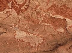 Dohone Detail (ursulazrich) Tags: sahara cattle paintings libya rockart petroglyphs libia libye libyen tibesti uweinat gravuren dohone nuqay eghei