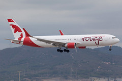 Boeing 767-300ER Air Canada Rouge C-FMWP cn 25583/508 (Guillaume Besnard Aviation Photography) Tags: barcelona airplane aircraft bcn canoneos planespotting boeing767 767300er barcelonaaeropuerto barcelonaairport aircraftspotting lebl boeing767300er cfmwp barcelonaelprat barcelonaaeroport aircanadarouge cn25583508