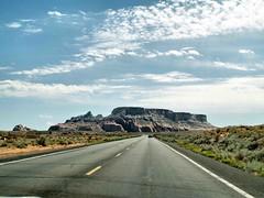 road to nowhere  082 (saxonfenken) Tags: 6903land 6903 arizona road lines vanishing infinity rock landscape car distance friendlychallenges pregamewinner thechallengefactory gamewinner challengeyouwinner challengeyou superhero perpetual