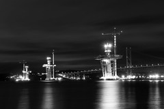 Queensferry Crossing Black and White (maxbryan92) Tags: road bridge blackandwhite night nikon long exposure crossing suspension forth firth queensferry d800