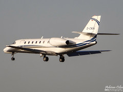 Private --- Cessna 680 Citation Sovereign --- D-CWIN (Drinu C) Tags: plane private aircraft sony dsc cessna 680 sovereign citation mla bizjet privatejet lmml dcwin hx100v adrianciliaphotography