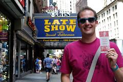 My Fifth & Final Visit (_Codename_) Tags: nyc newyorkcity newyork marquee ryan lateshow ticket octopus letterman rayban davidletterman raybans edsullivantheater smokinglily