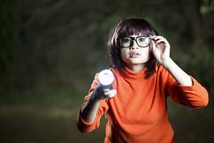 Velma Cosplay (Obtuse Photo) Tags: portrait orange cute photo kat meow doo scooby velma obtuse jelfish strobist wenske