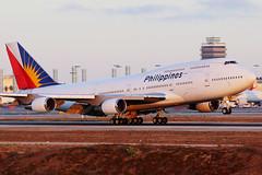 Philippines Airlines RP-C7473 (Mark Harris photography) Tags: la losangeles aircraft aviation jet aeroplane landing boeing lax 747 jumbo
