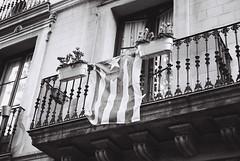 Catalunya (Gonzalo Ribas) Tags: barcelona bw espaa white black film me bandeira 35mm spain espanha pentax kodak tmax flag super iso negative 400 catalunya catalunha
