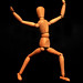 Ballet Dancer Photo, low key person by  (aka Array)