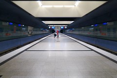 Munich after sunset: lonely man in an underground station. (F.R.L., thanks for your views and comments!) Tags: architecture munich metros undergrounds worldtrekker ubahnen munichaftersunset