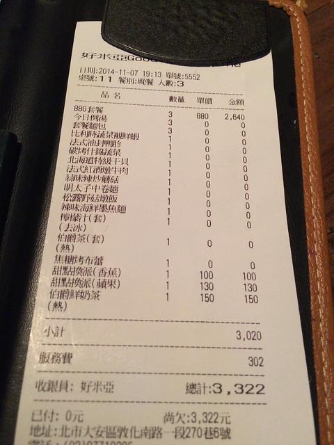 20141107 Goodies Cuisine 好米亞@台北市